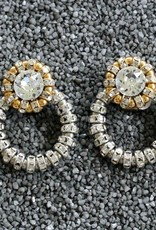 Jewelry FMontague: Joyce Loops w/Silver & Gold Crystal Details