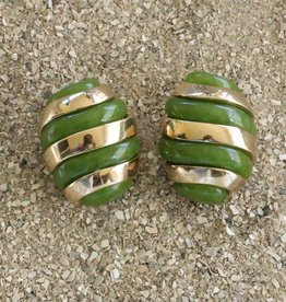 Jewelry VCExclusives: Banded Egg / Green  and Gold