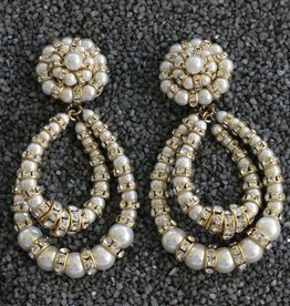 Jewelry FMontague: Lolita Pearl & Crystal Loops