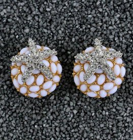 Jewelry KJLane: Crystal Starfish on White Coral