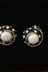 Jewelry VCExclusives: Spotted Black & Cable Swirls w/Ivory Center
