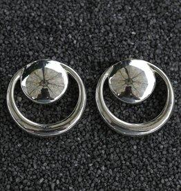 Jewelry Sebbag: Silver Circle Circle