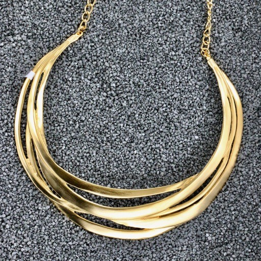 Jewelry KJLane: Cutout Collar Gold