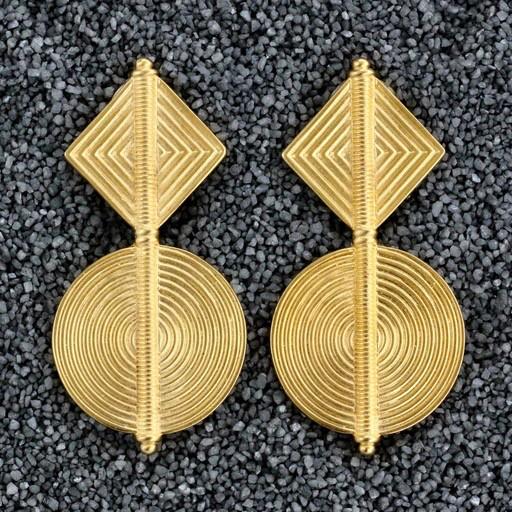 Jewelry KJLane: Satin Geo Gold Drop