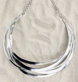 Jewelry KJLane: Cutout Collar Silver