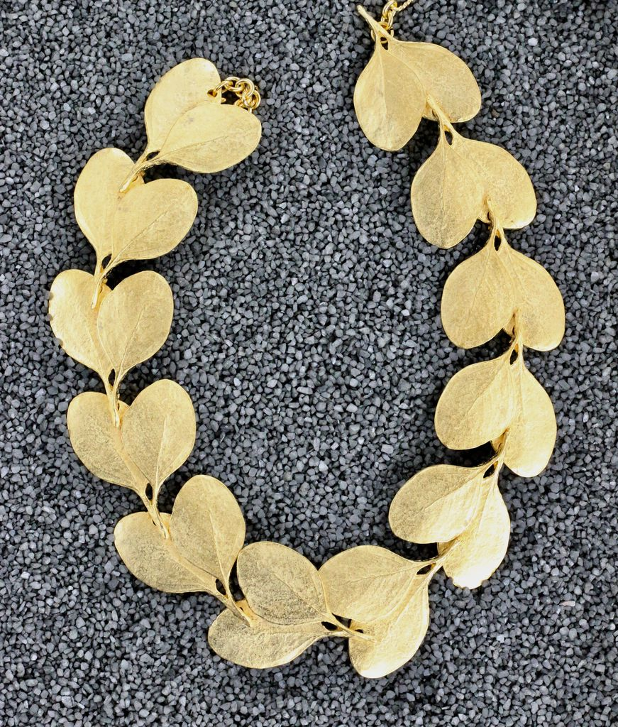 Jewelry KJLane: Gold Leaf Necklace
