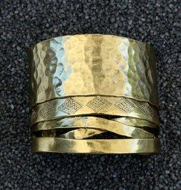 Jewelry KSultan: Gold Cuff w Hammer Strips