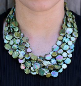 Jewelry VCExclusives: Chimes Glass Beads Green Magenta