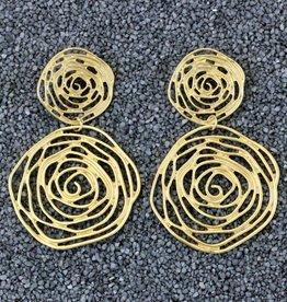 Jewelry KSultan: Gold Op Swirl Dangles Pierced