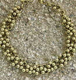 Jewelry Vaubel: Gold Small Knitte Balls