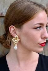 Jewelry KJLane: Starbursts Pearl Drop