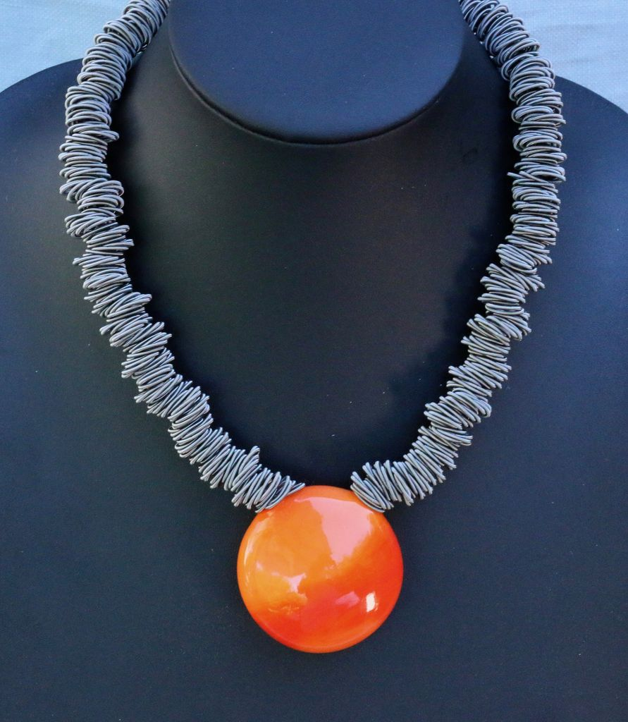 Jewelry VCExclusives: Maratea Orange with Silver Wire