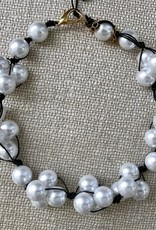 Jewelry VCExclusives: White Pearl on Black Cord