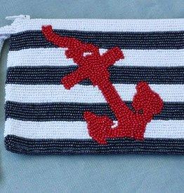 Handbags VCExlusives: Beaded Clutch / Navy Anchor
