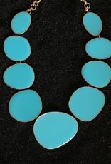 Jewelry KJLane: Random Circles Turk & Gold