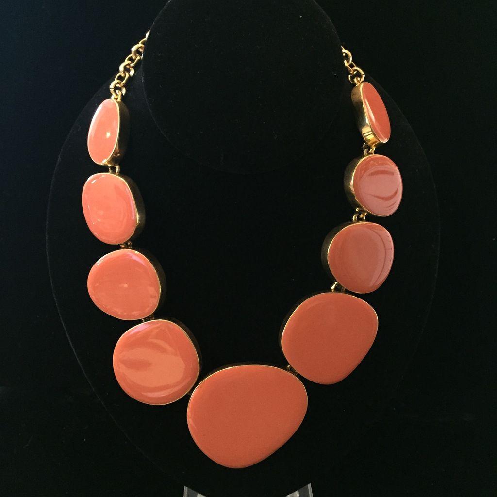 Jewelry KJLane: Random Circles Coral & Gold
