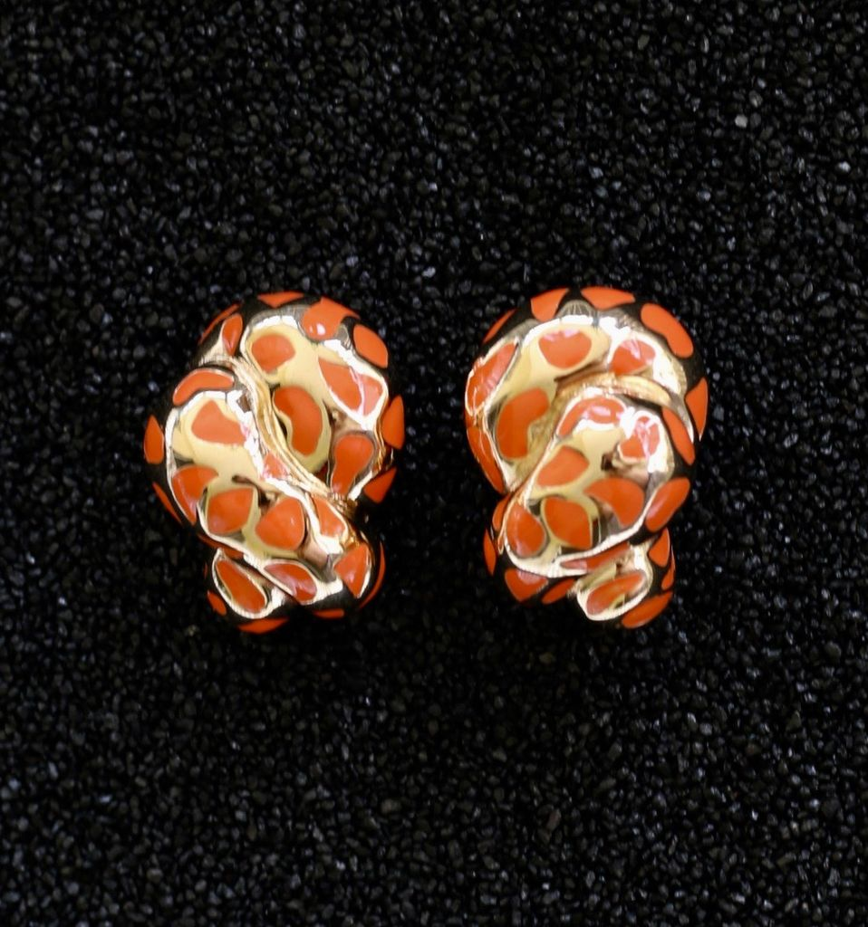 Jewelry VCExclusives: Leopard Coils Coral & Gold