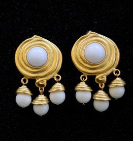 Jewelry KJLane: Swirl & Droplets White & Gold