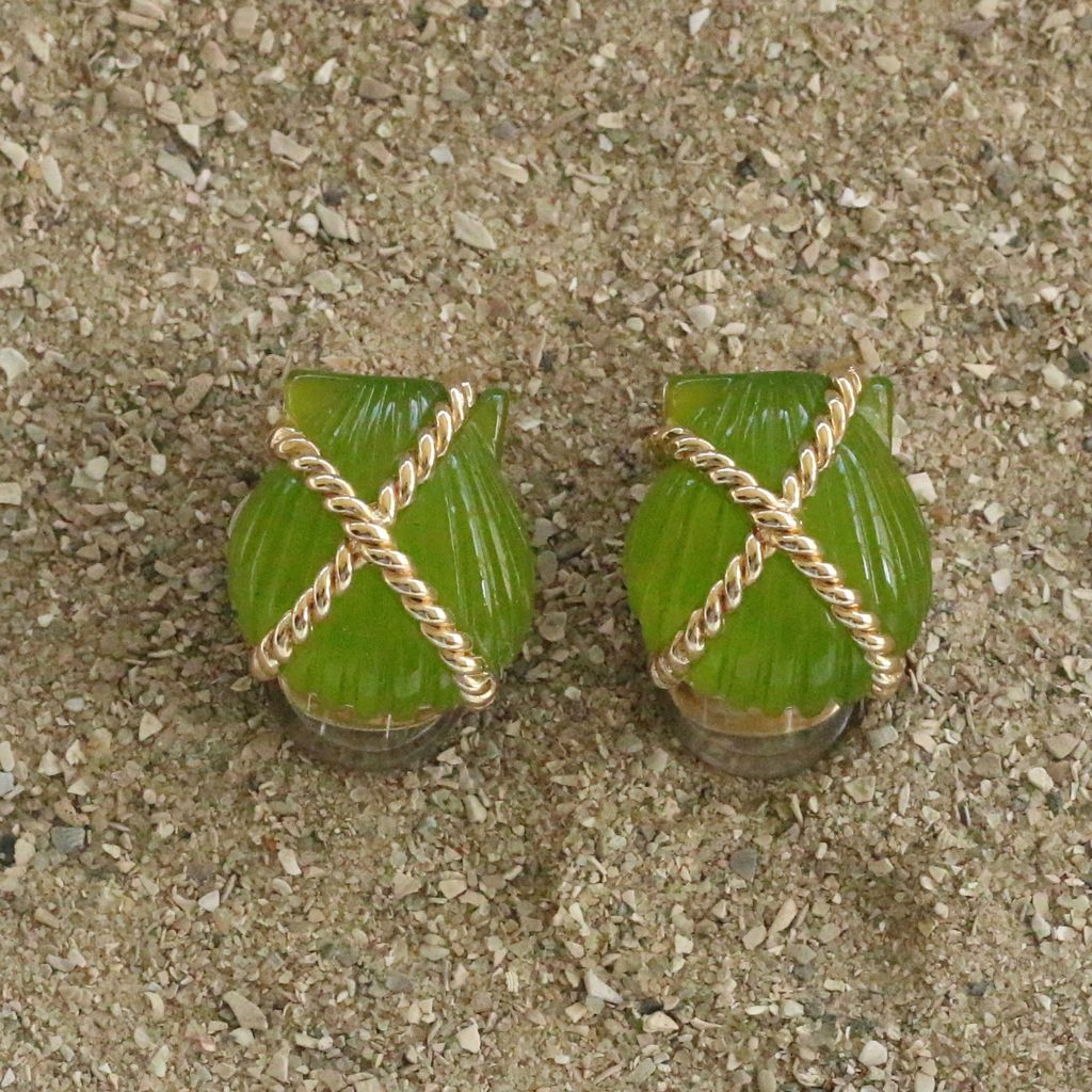 Jewelry VCExclusives: Shell Criss Cross Green