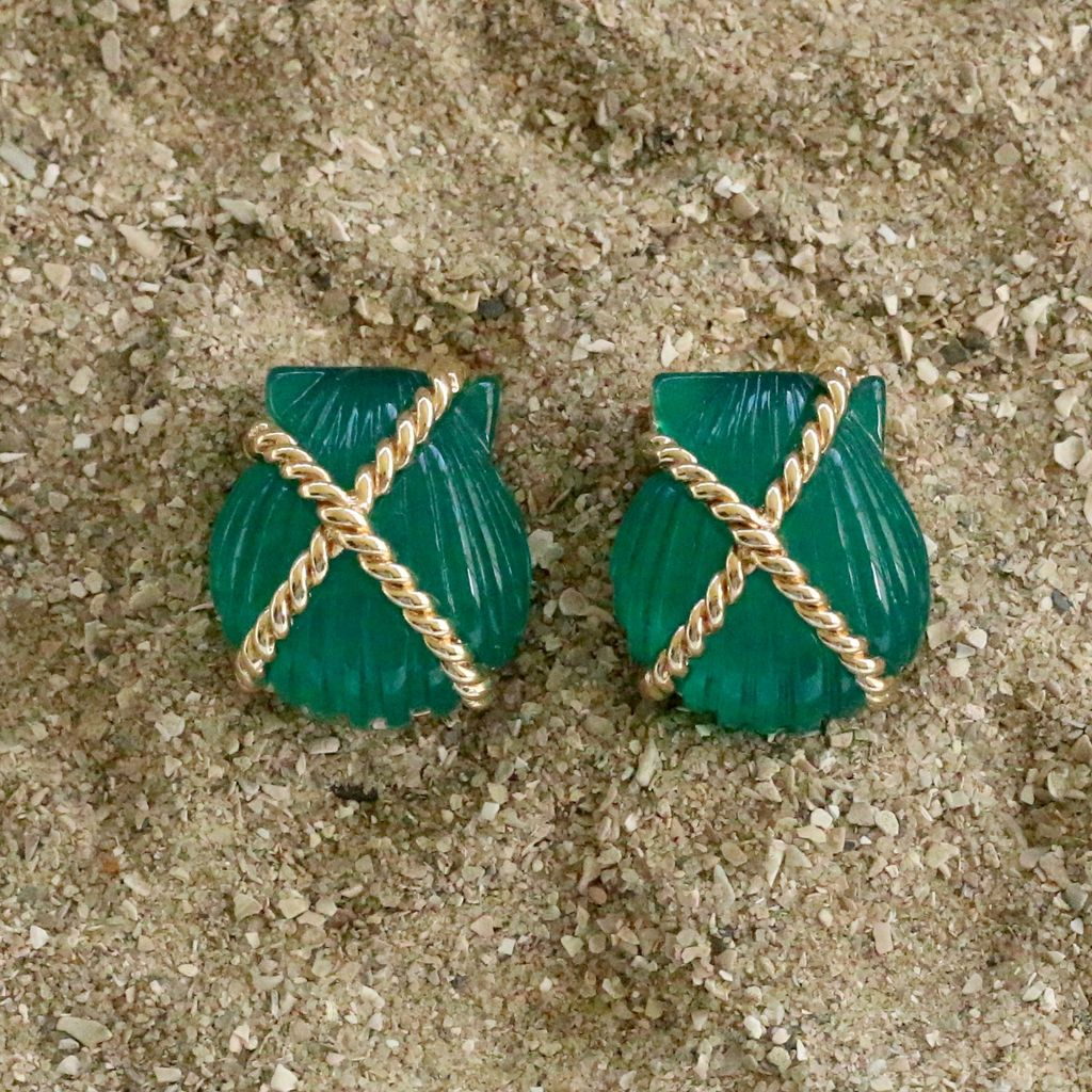Jewelry VCExclusives: Shell Criss Cross Dark Green
