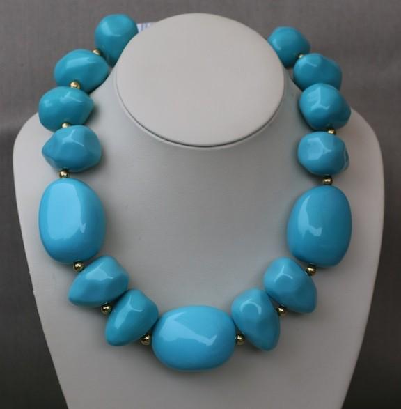 Jewelry KJLane: Pebbles Turq