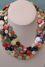 Jewelry VCExclusives: Chimes Glass Beads Multi Earth Tones