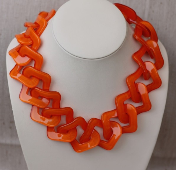 Jewelry VCExclusives: Flat Links Orange