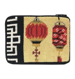 Alice Peterson Chinese Lanterns Coin Purse/Credit Card Case