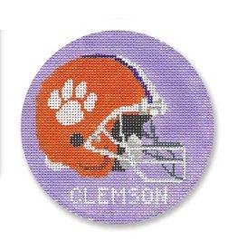 "CBK Needlepoint Clemson ornament<br /> 4"" Round"