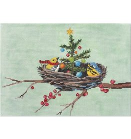 "CBK Needlepoint Christmas in the Nest<br /> 12"" x 8.5"""