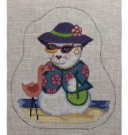 "Annie Lee Snow Lady ornament<br /> 6"" x 5"""