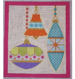 """Eye Candy Merry &amp; Bright - Pink Border<br /> 6"""" x 7"""""""