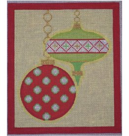 """Eye Candy Merry &amp; Bright - Red Border<br /> 6"""" x 7"""""""
