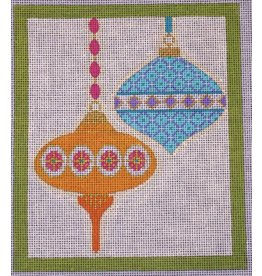 "Eye of the Needle Merry &amp; Bright - Lime Border<br /> 6"" x 7"""
