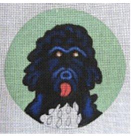 "Artist Collection Porter Portuguese Dog ornament<br /> 4.5"" Round"