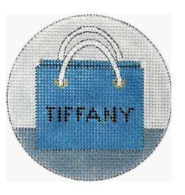 """Alice Peterson Tiffany ornament<br /> 4"""" Round"""