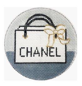 """Alice Peterson Chanel ornament<br /> 4"""" Round"""