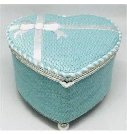 """Funda Scully Tiffany Heart Hinged Box<br /> 13"""" x 8"""""""
