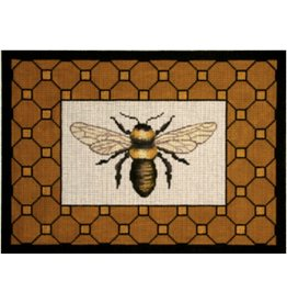 """Vallerie Bee with Brown Border<br /> 13"""" x 9.5"""""""