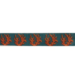 HSN Designs Coral on tourquoise belt