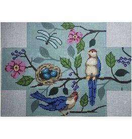 All About Stitching Bird Brick - Blue