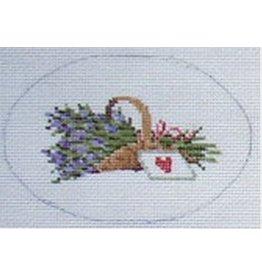 Julia Lavender Basket Hinged Box (oval)