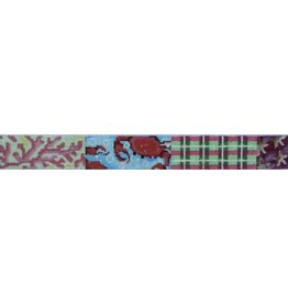 Associated Talent Patchwork belt with crabs, coral & starfish.