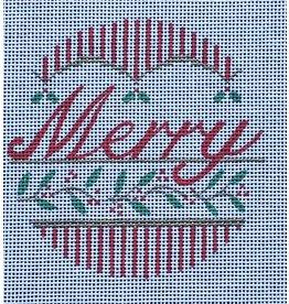 "Vallerie ""Merry"" ornament<br /> 4"" Round"