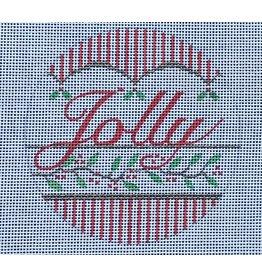 "Vallerie ""Jolly"" ornament 4"" Round"