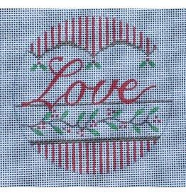 "Vallerie ""Love"" ornament 4"" Round"