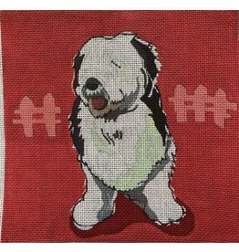 "DJ Designs Old English Sheep Dog<br /> 8"" x 8"""