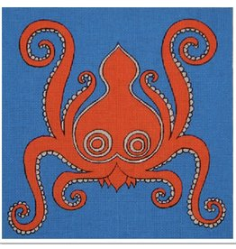 DJ Designs Octopus - Blue Background