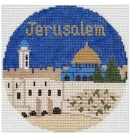 "Colonial Needle Jerusalem Travel Round]4.25"" Round"
