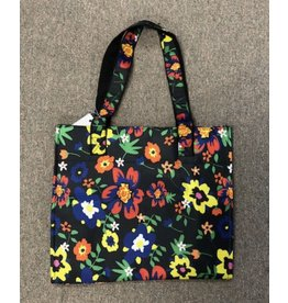 Victoria Whitson Splash flowers tote bag - black background